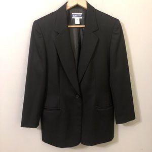 Pendleton Virgin Wool Black Blazer size 10